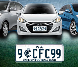 Carlton Football Club Number Plates